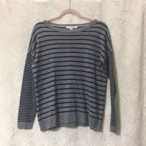 BODEN grey and blue stripe sweater
